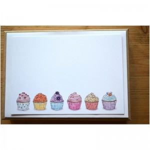 Gift Card - Cupcake design. Martha hand draws all her designs.