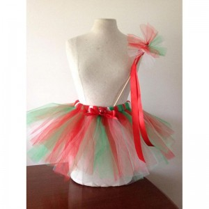 Make your own Christmas Tutu and Wand set - A completed example!