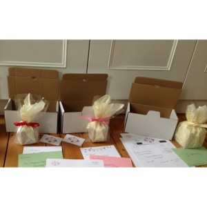 Candles wrapped and ready to pack