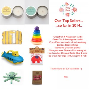 Rosy Rosie top sellers so far for 2014