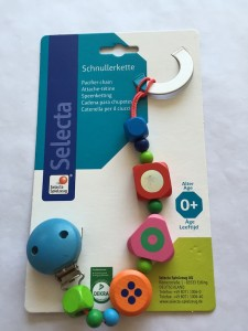 Ex-display Pacifier Chain made from sustainable wood - was £8 now £4