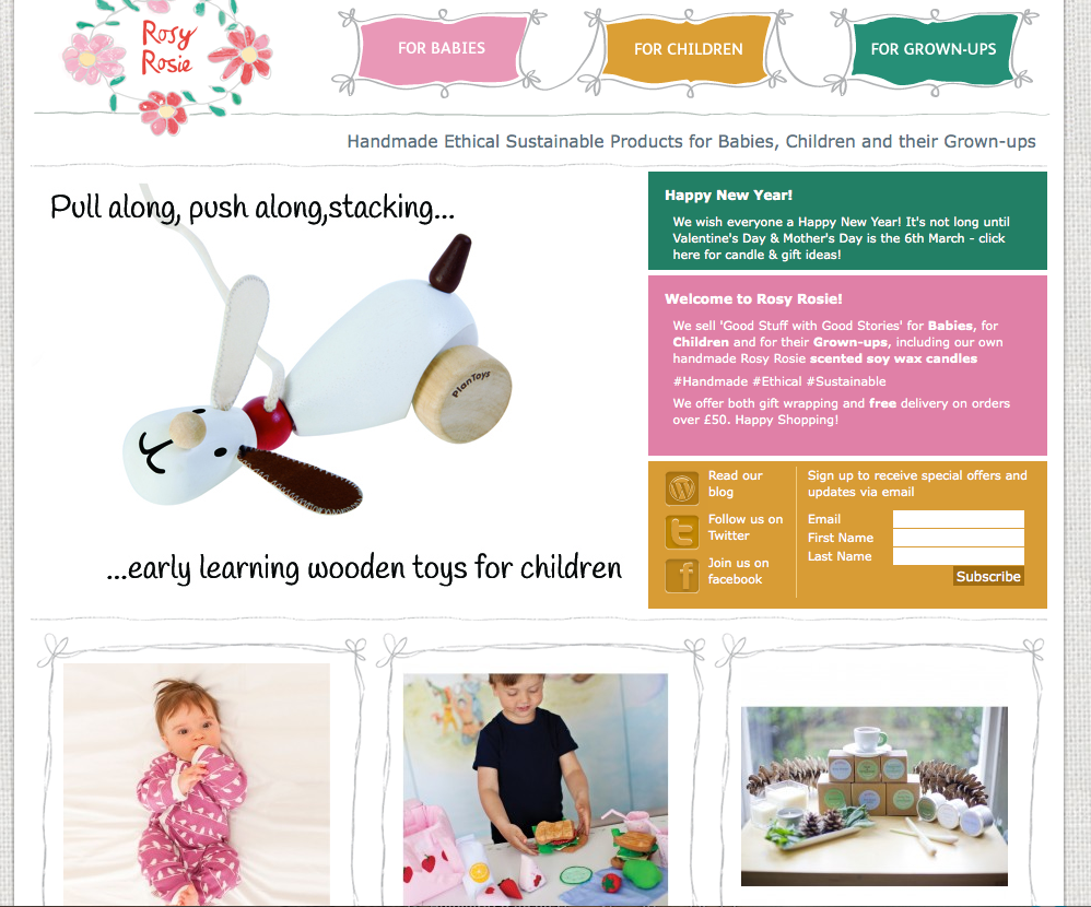 Rosy Rosie home page