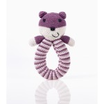 Purple Bear Rattle from Pebble