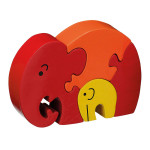 Mummy and Baby Elephant puzzle by Lanka Kade