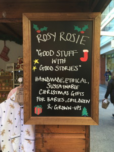The Rosy Rosie Stall at Ealing Christmas market